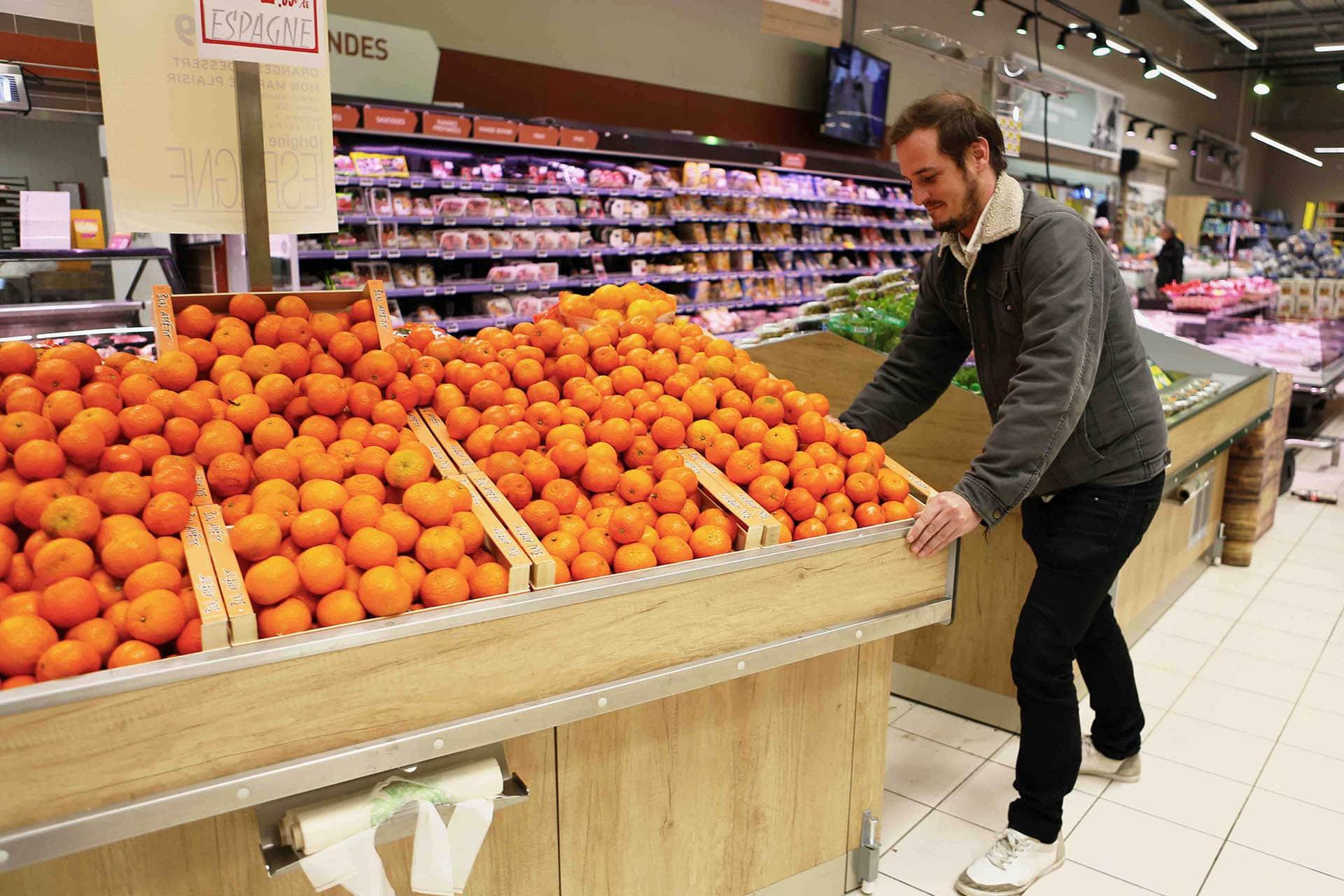 table fruits et légumes amovible