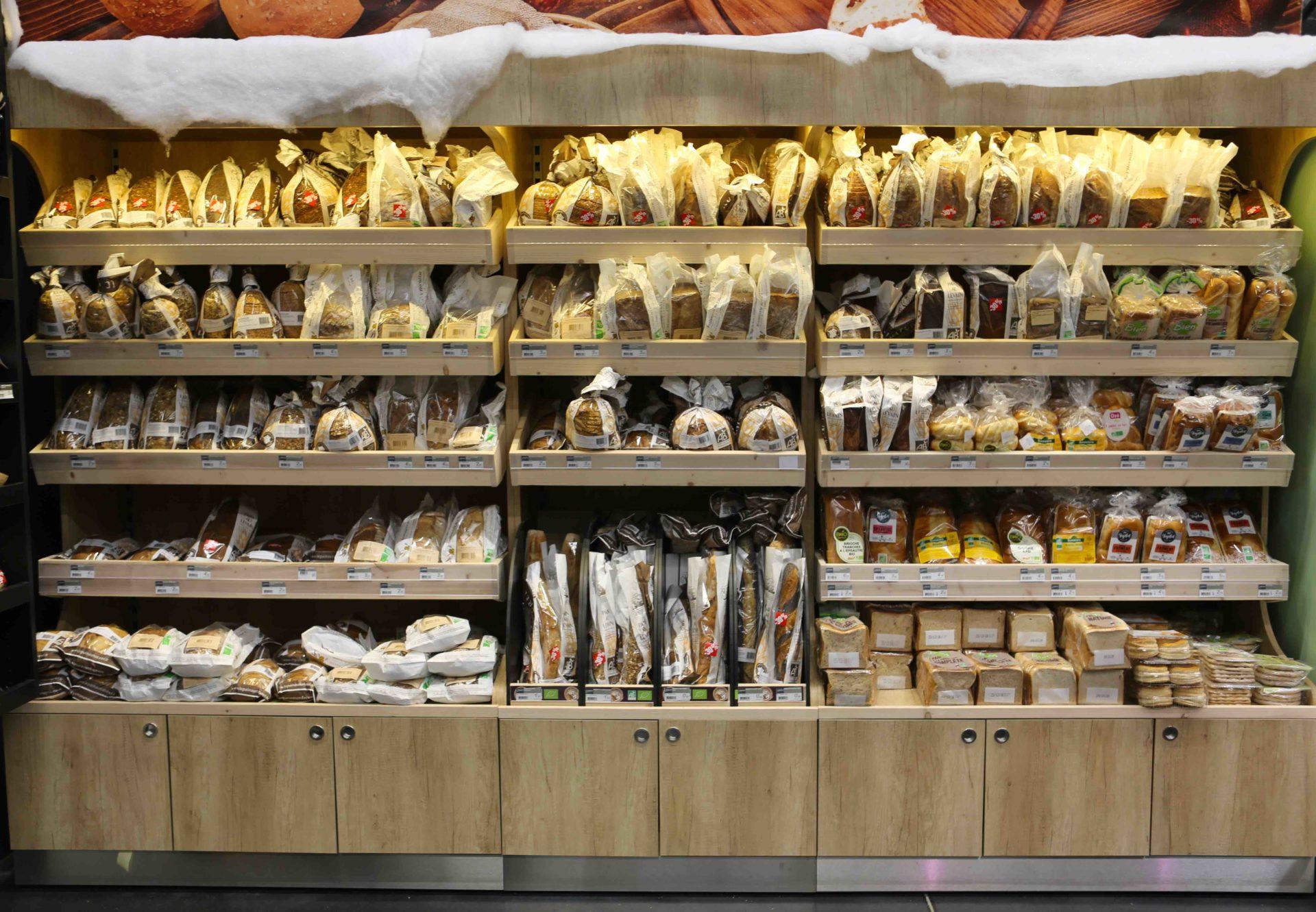 présentoir boulangerie