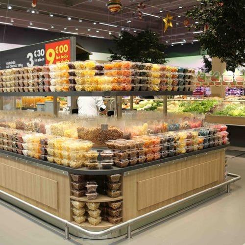 Présentoir Kiosque et Fruits Secs