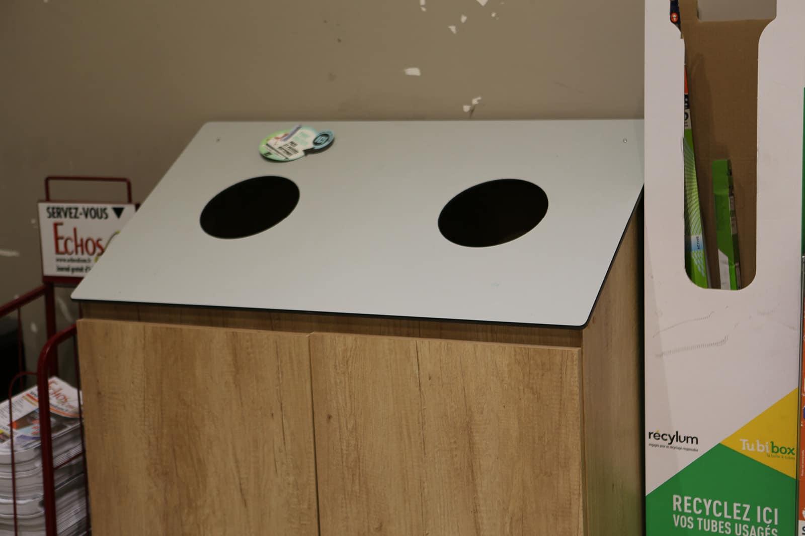meuble poubelle tri sélectif