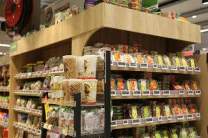 présentoir fruits secs